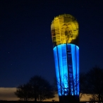 dsc00025 / Wasserturm Altdorf Lichtinstallation