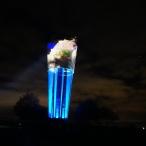 dsc00078 / Wasserturm Altdorf Lichtinstallation